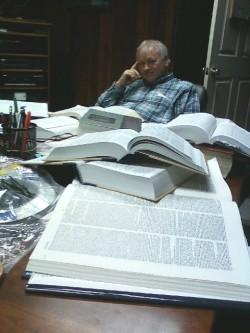 Pastor John Clark while translating